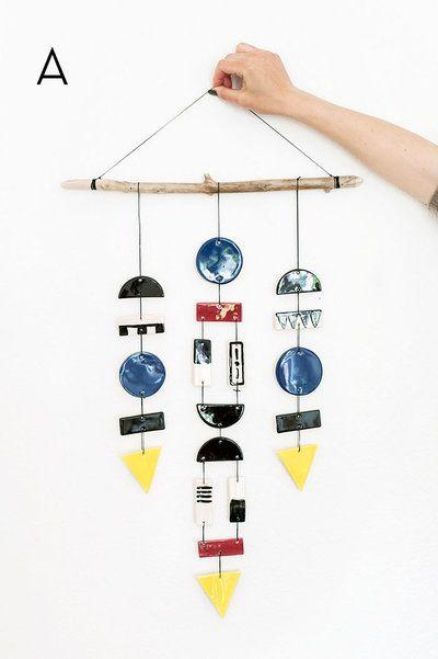 A handmade mobile and wall decoration by designer Sofia Nohlin ...