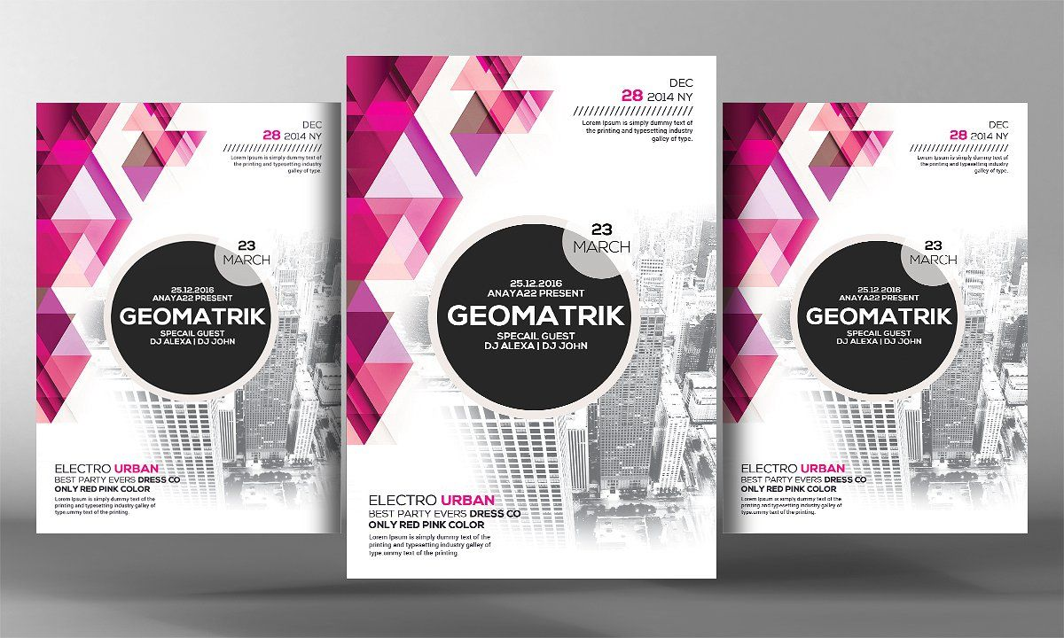 Rosace Geometric Flyer Template  Flyer Template And Fonts