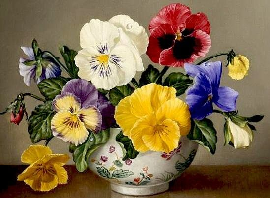 Pin By Jannie De On Pansy Maceska Anyutiny Glazki Flower Painting Floral Painting Flower Art