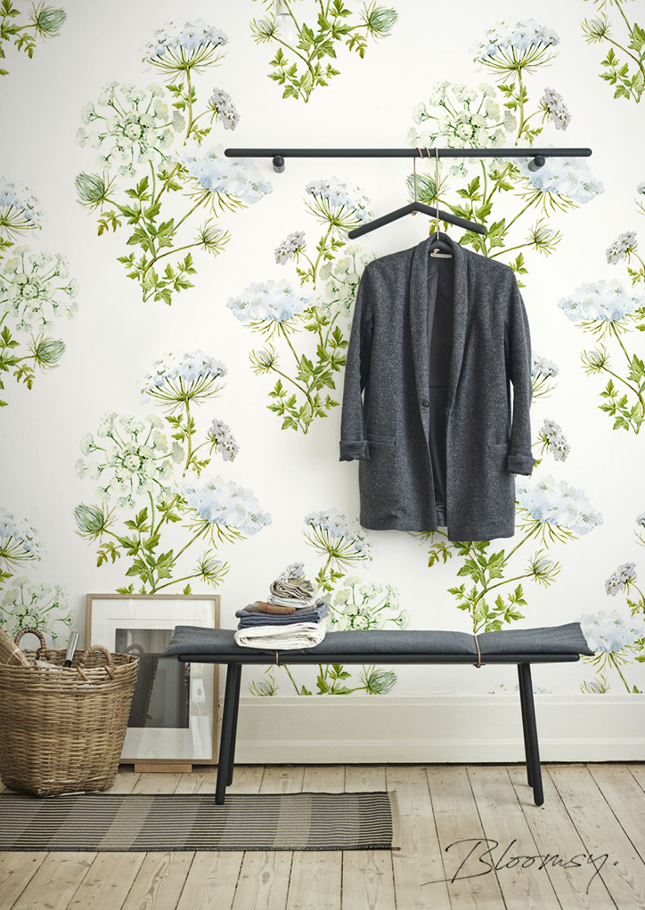 Removable Wallpaper Field Flowers Peel And Stick Wallpaper Etsy Removable Wallpaper Watercolor Walls Temporary Wallpaper