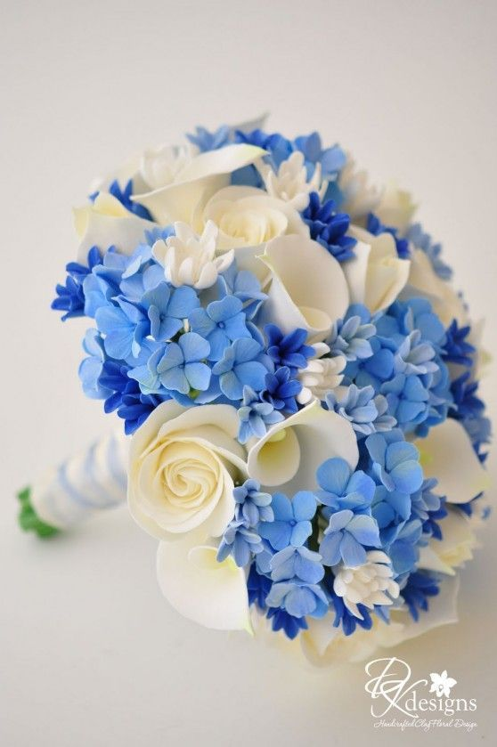 White And Blue Bouquet Blue Wedding Centerpieces Blue Wedding Bouquet Blue Hydrangea Centerpieces