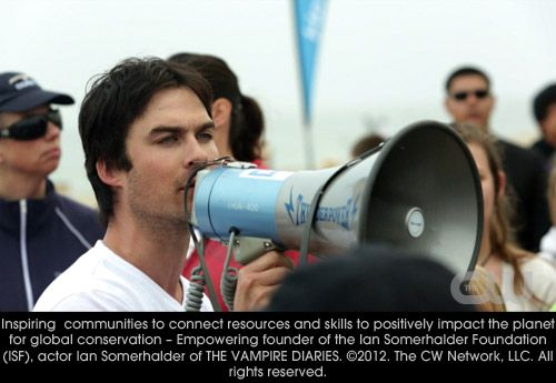 Inspiring communities to connect resources and skills to positively impact the planet for global conservation - Empowering founder of the Ian Somerhalder Foundation (ISF), Ian Somerhalder.
