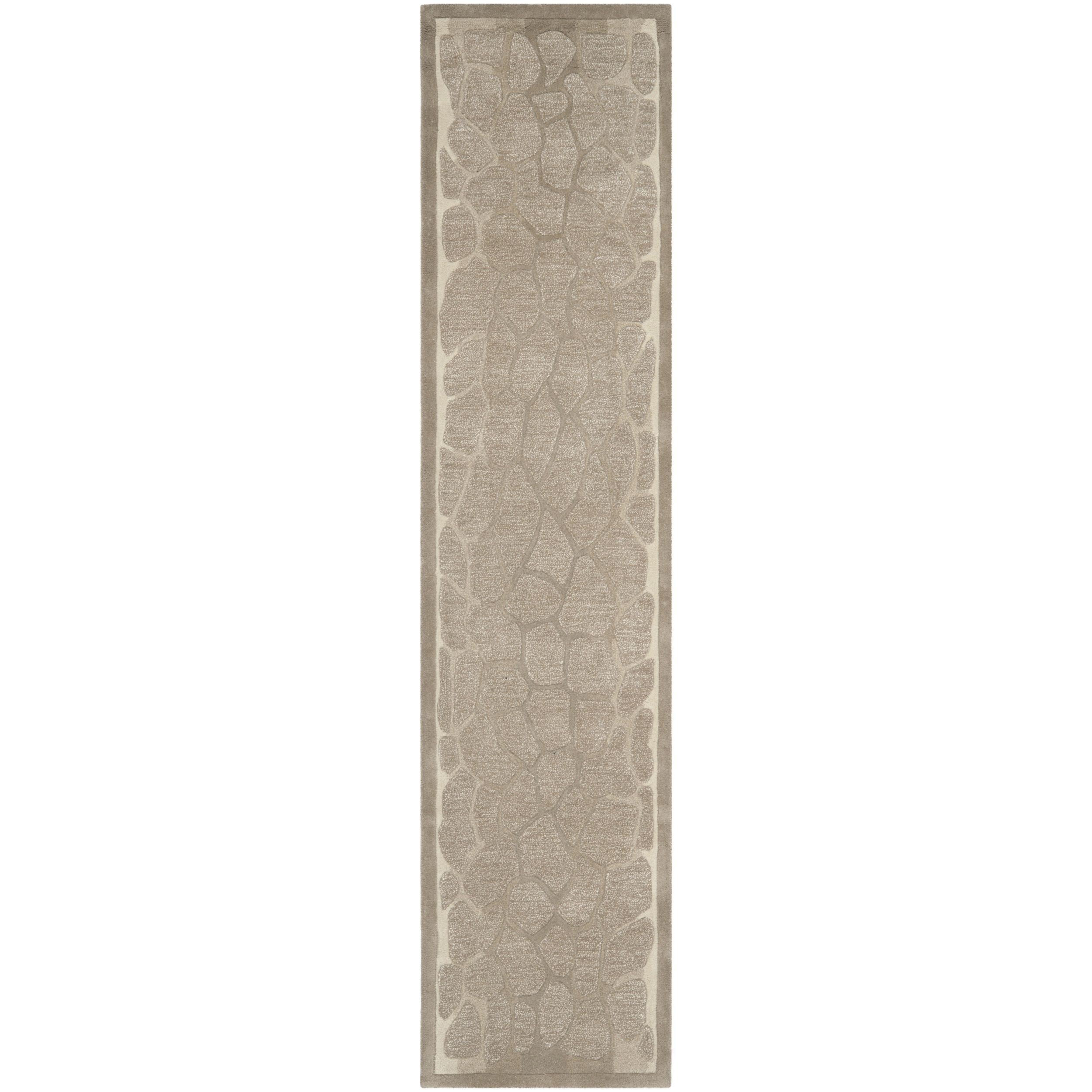 Martha Stewart Arusha Wheat Beige Wool/ Viscose Rug (2' 3 x 10') (MSR3615B-210), Size 2'3 x 10' (Cotton, Abstract)