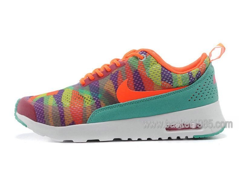 low priced 886a9 40fd9 Nike Air Max Thea Print Chaussure Pour Femme Orange Vert 599408-004 -  Boutique Chaussures Basket En Ligne.