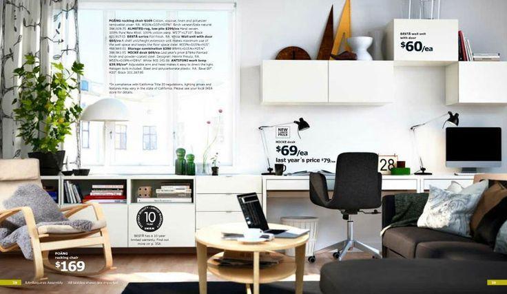Soggiorno Ikea Planner : White ikea home office with planner for mac interior design ideas
