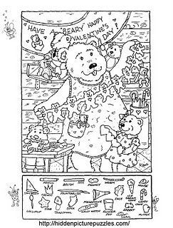 Hidden Picture Puzzle/Coloring Page for Valentine's Day repinned by @PediaStaff – Please Visit http://ht.ly/63sNt for all our pediatric therapy pins