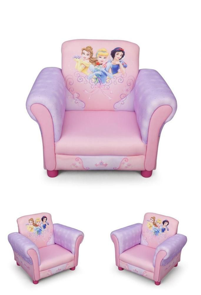 Pink Toddler Chair Disney Princess Armchair Children Playroom Bedroom Furniture Armchair Furniture Upholstered Sofa Armchair