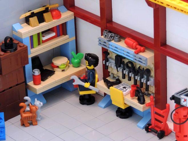 Lego City Garage : Lego ideas master mechanic s garage lego garage