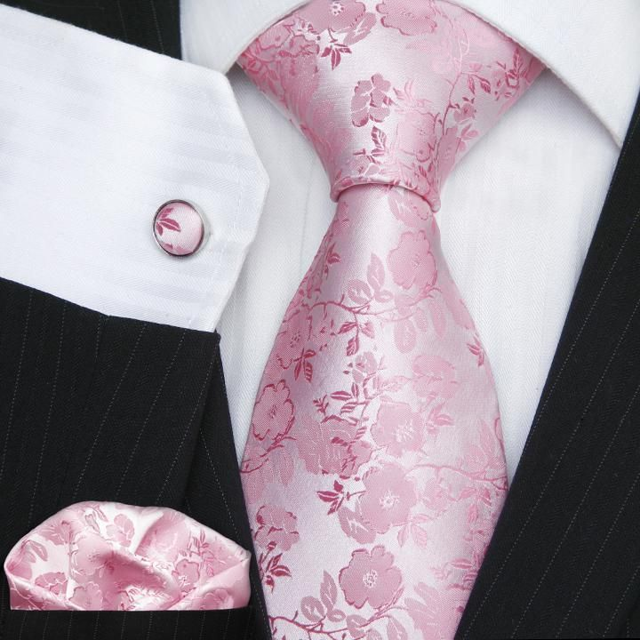99888f6868a8 Pink Floral Men's Wedding Tie Set UK Stock Necktie Sets in Clothes, Shoes &  Accessories, Men's Accessories, Ties, Bow Ties & Cravats | eBay