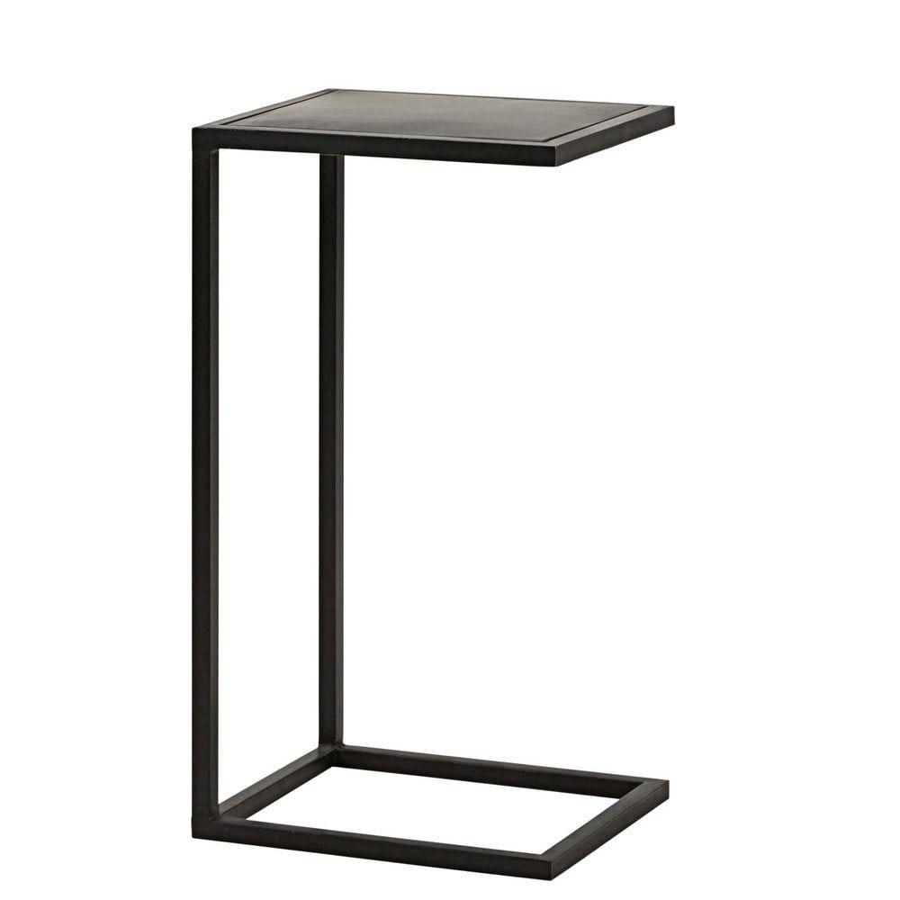 Romy Square Metal Coffee Table Am Pm: Bout De Canapé Indus En Métal Noir