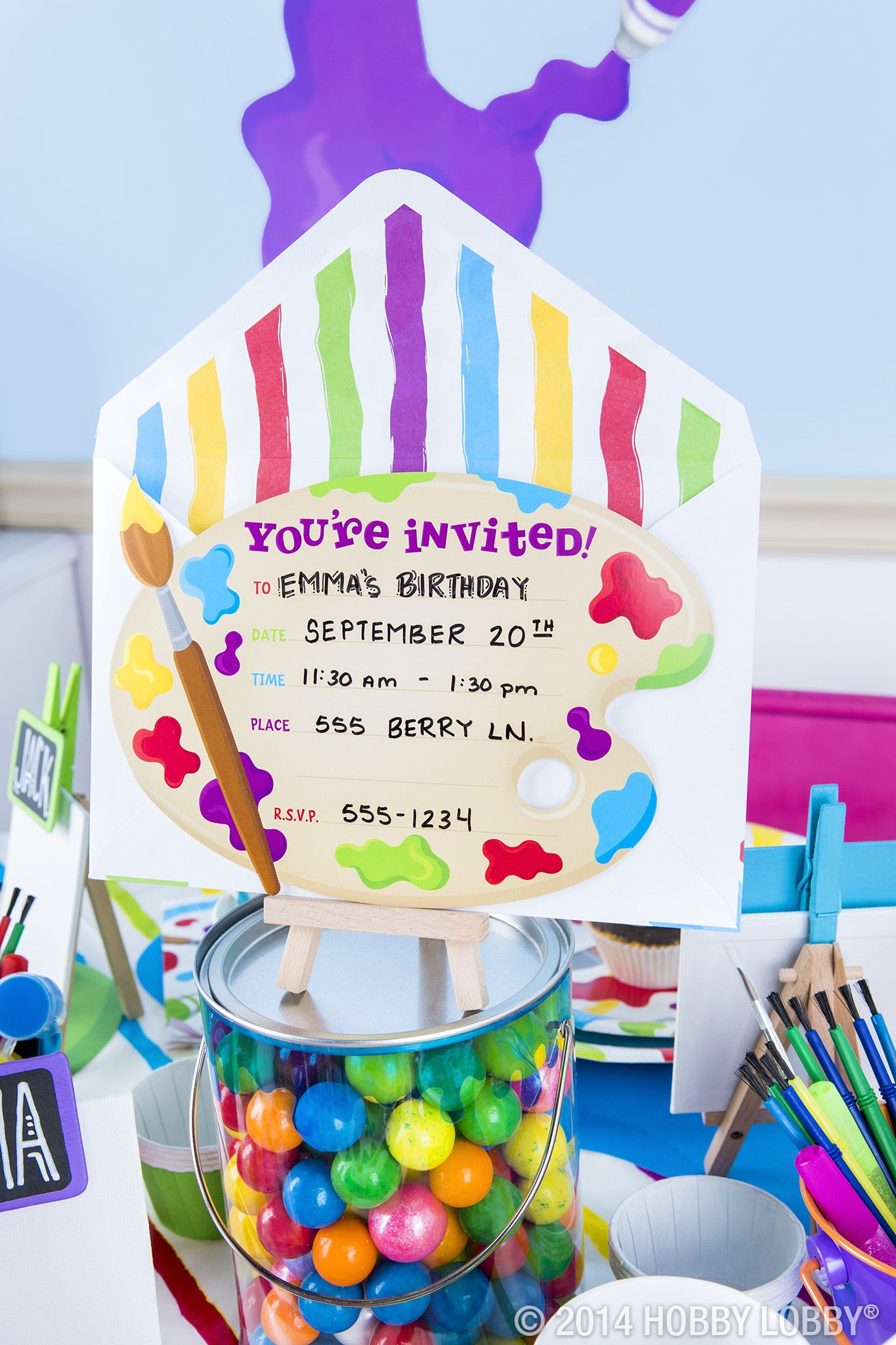 Paint Party Themed Party Collections Party Baking Hobby Lobby Art Themed Party Birthday Party Themes Candyland Party