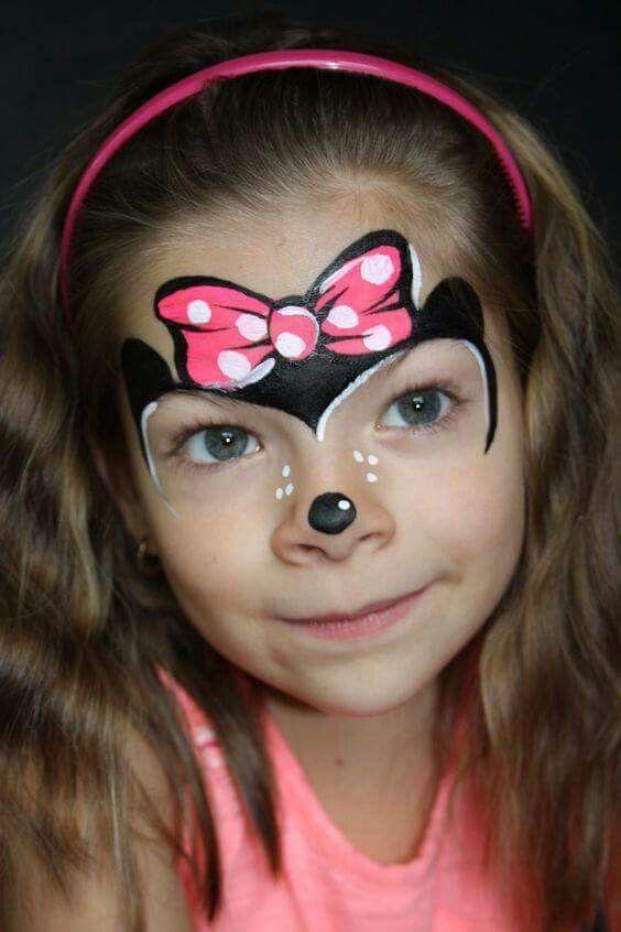 Minnie Mouse Truccabimbi Ansikten Barn E Målningar