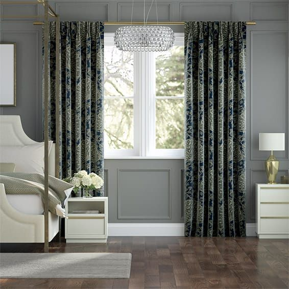 Pinion Velvet Royal Blue Curtains
