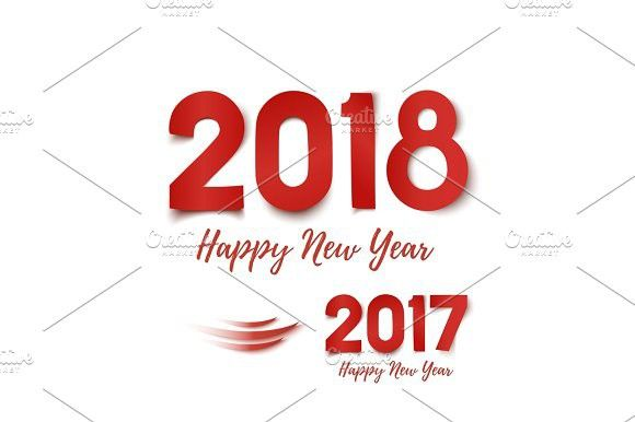 Happy New Year 2017- 2018 greeting card template Calendar - greeting card templates