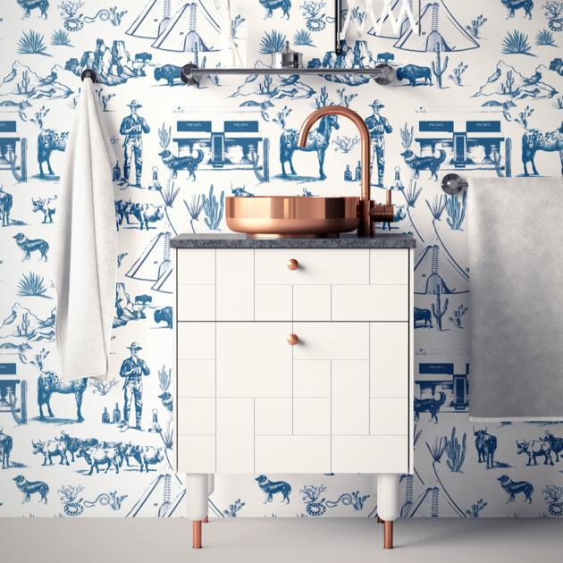 Marfa Toile Peel Stick Wallpaper In 2021 Boys Room Wallpaper Boys Bedroom Wallpaper Toile Wallpaper