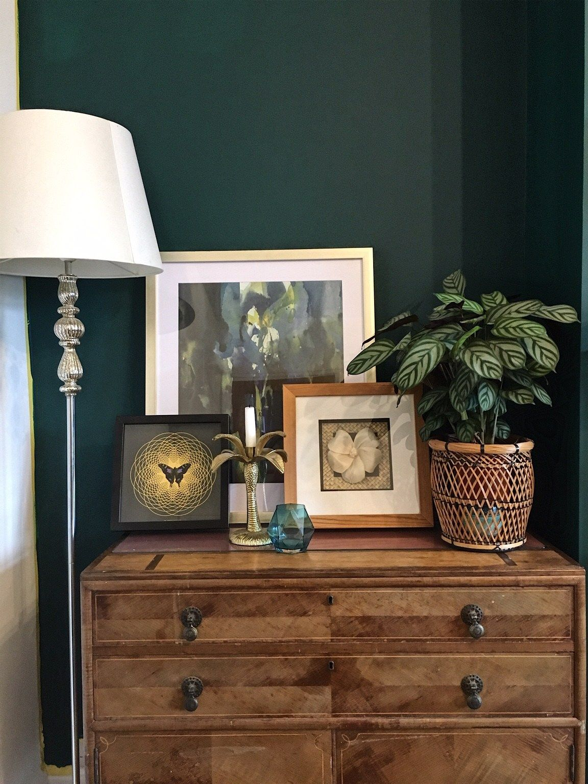 How To Use Dark Green in Your Living Room - Melanie Jade ...