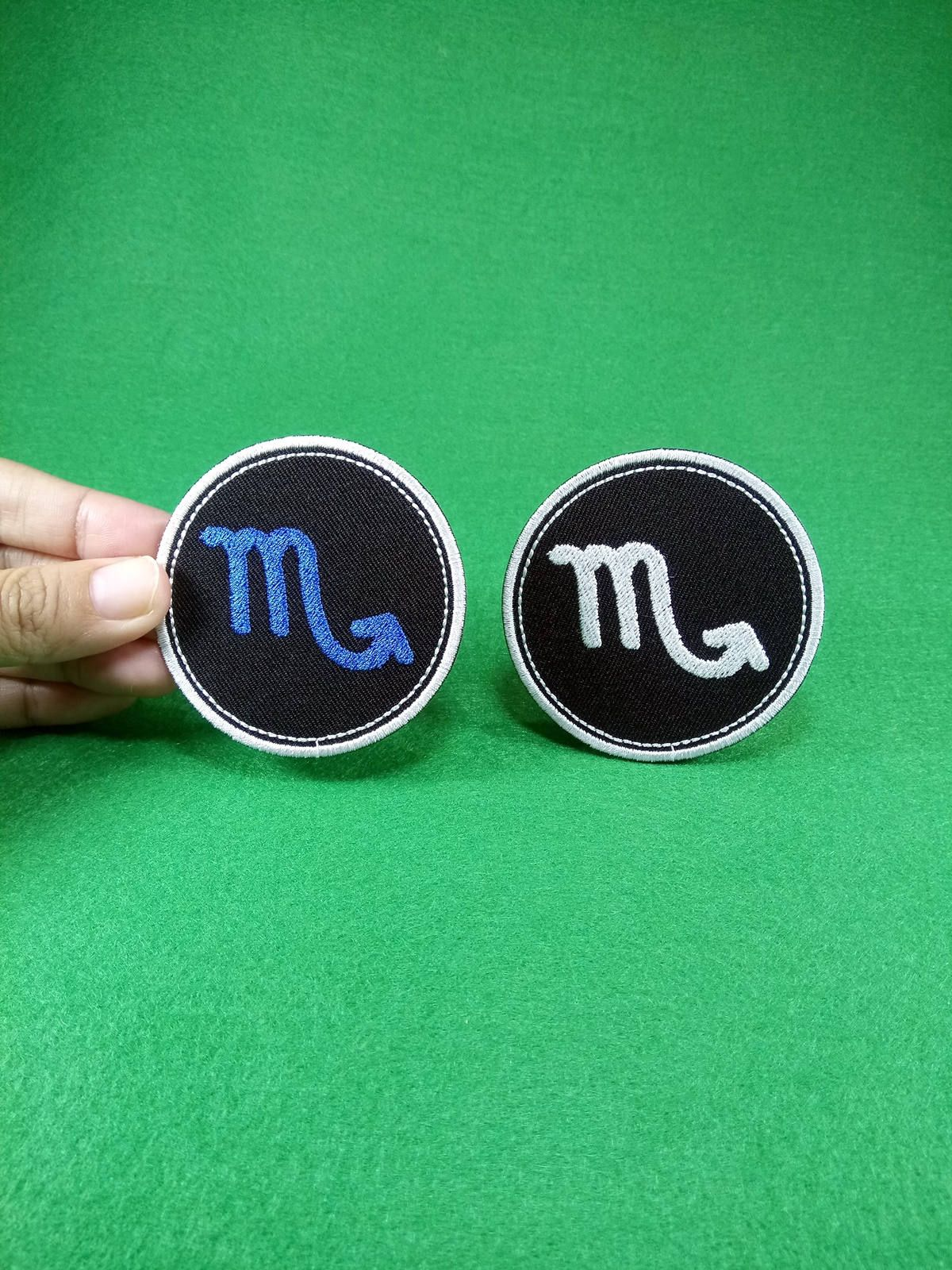 Scorpio Zodiac Sign Water Element Astrology Symbol Embroidery