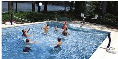 Swimways 2 In 1 Poolside Basketball Volleyball Combo Pool Basketball Swimming Pools Volleyball