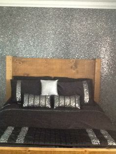 Peter Seems To Really Want Sparkly Silver Walls And A Gold Door. Help! Silver  Glitter WallpaperSilver ...