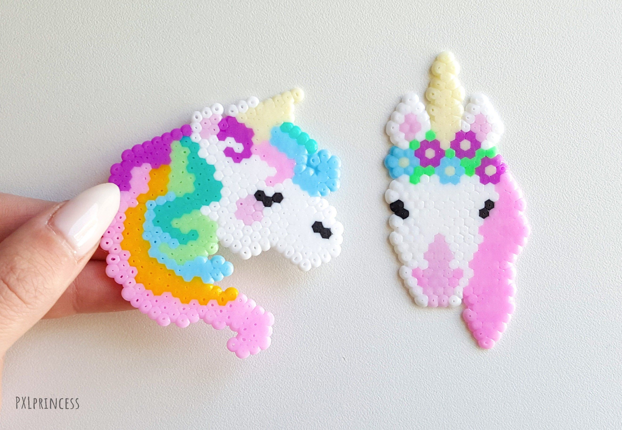 Unicorn Pin Pixel Art Perler Hama Beads Brooch 8bit Kawaii