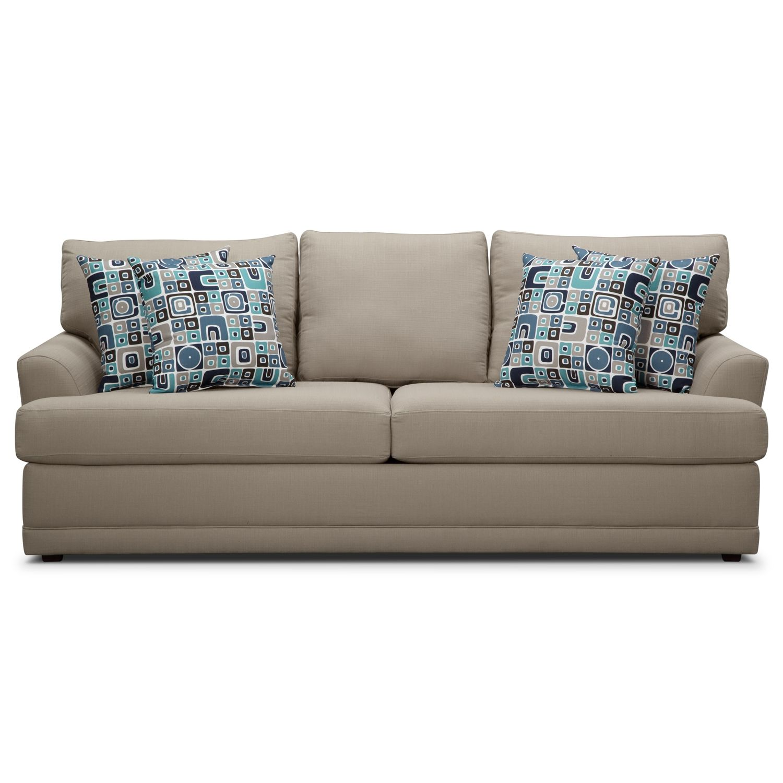 Kismet Ii Queen Memory Foam Sleeper Sofa American Signature