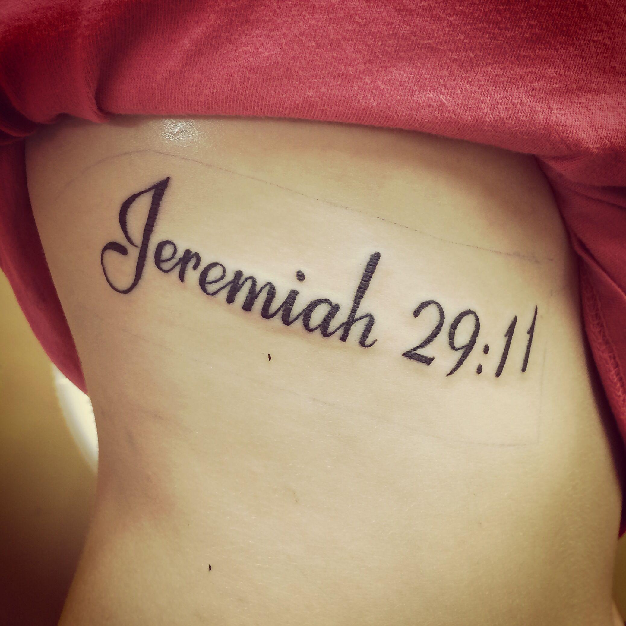 Finally Got My Tattoo Jeremiah 2911 Tattoo Pinterest