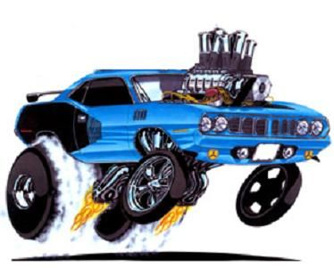 Cool Cartoon Cars Classic Car Muscle Car Hot Rod Car Cartoon