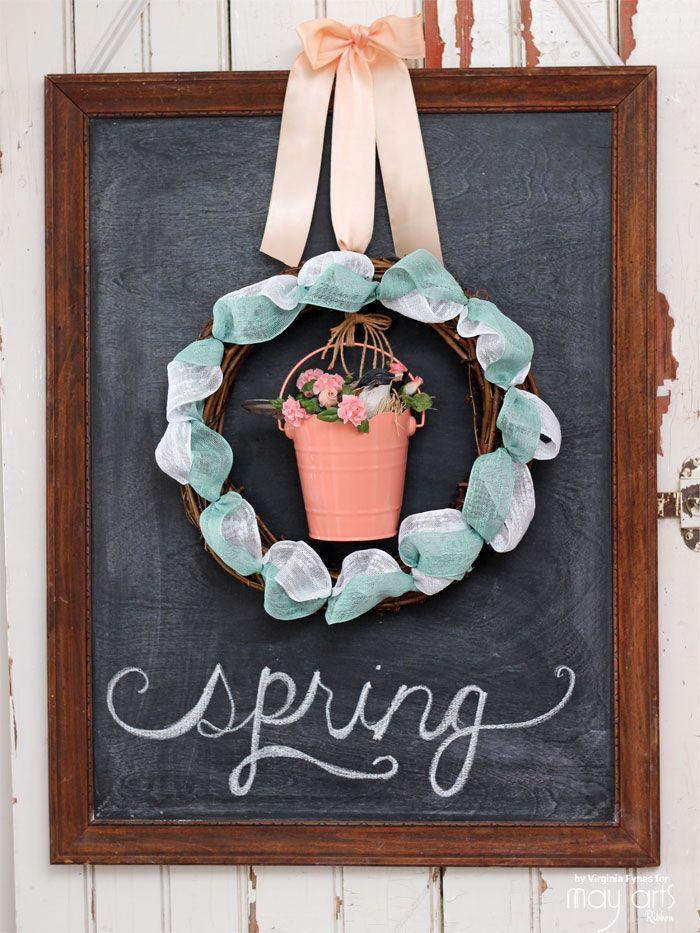 Photo of Spring Ribbon Wreath | FYNES DESIGNS