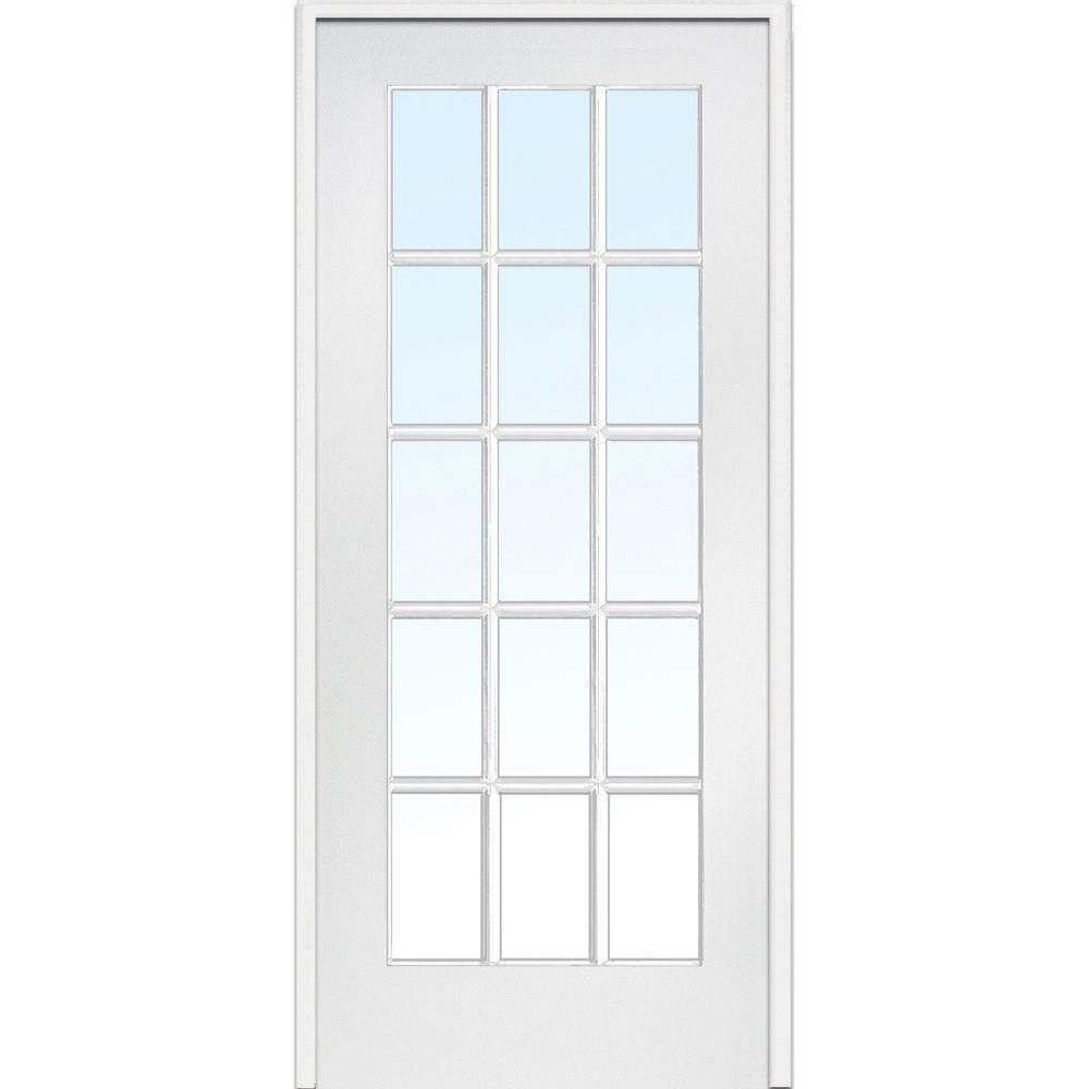 Mmi Door 36 In X 80 In Right Handed Primed Composite Clear Glass