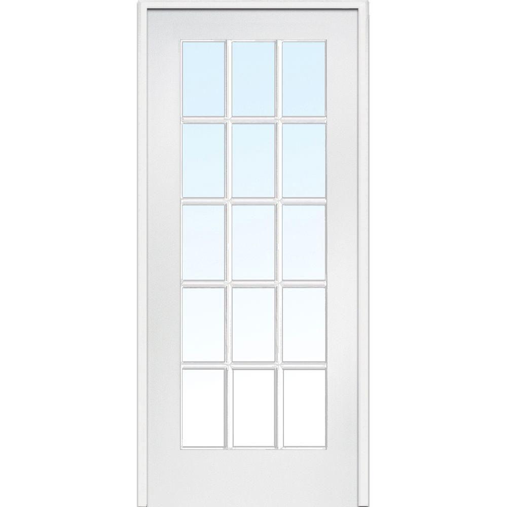 Milliken Millwork 36 In X 80 Clic Clear Gl 15 Lite Composite Single Prehung Interior Door Z009307r The Home Depot