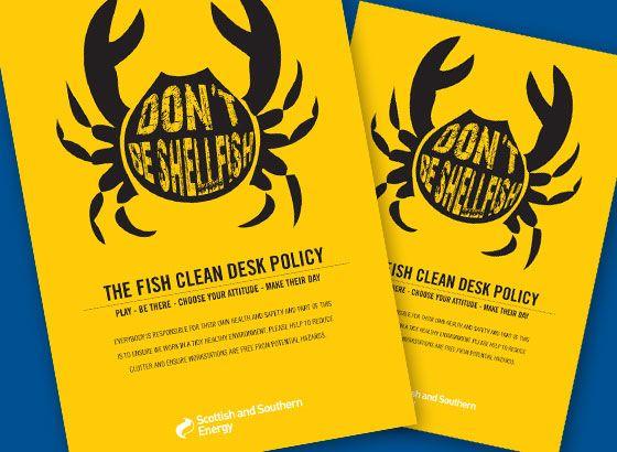 Sse Clean Desk Campaign Clean Desk Internal Comms Internal