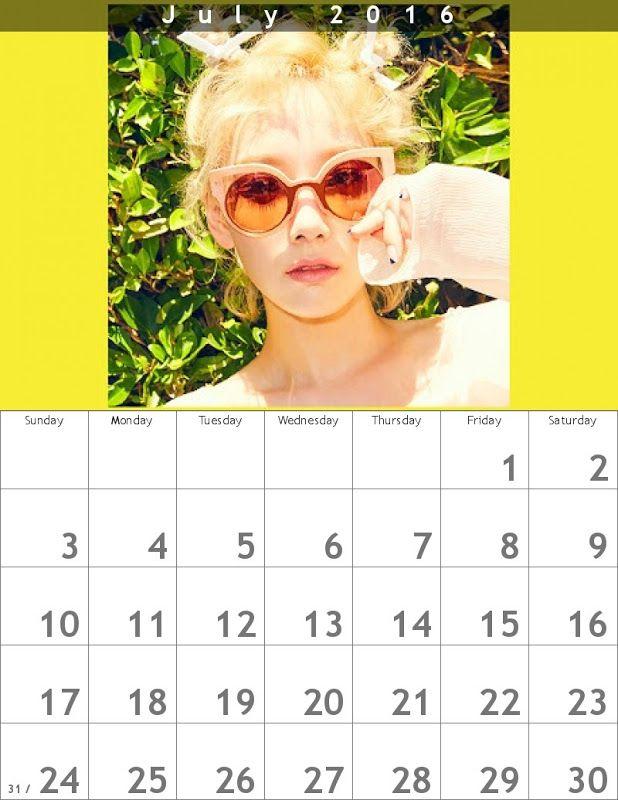 テヨンカレンダーWhy!? 1607 ✐ 800×1035  - Taeyeon Soft Cream Album ☺ Snsd #taeyeon #snsd #taeyeoncalendar