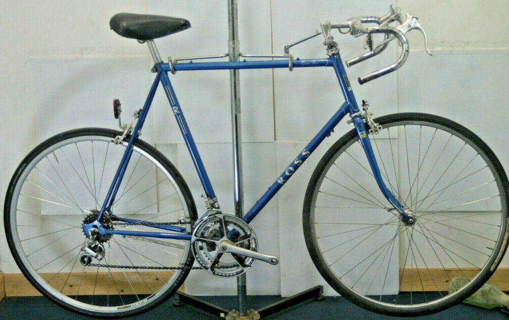 Ross Gran Tour Vintage Road Bike 80s Lugged Steel Touring X Large 64cm Charity Ross Road Bike Vintage Touring Bike Bike