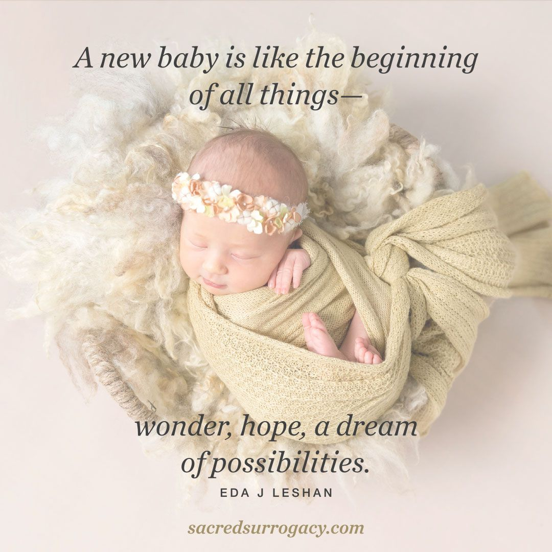A new baby is like the beginning of all things—wonder