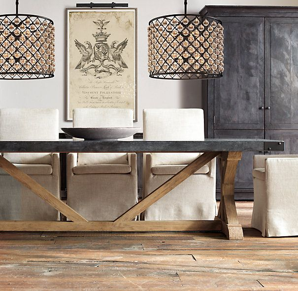 Salvaged Wood U0026 Concrete X Base Tables Would Make A Great Kitchen Table (DIY