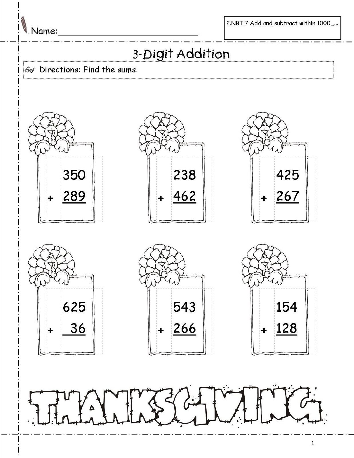 3 Addends Worksheet Printable for Kids   Kiddo Shelter   Math ...