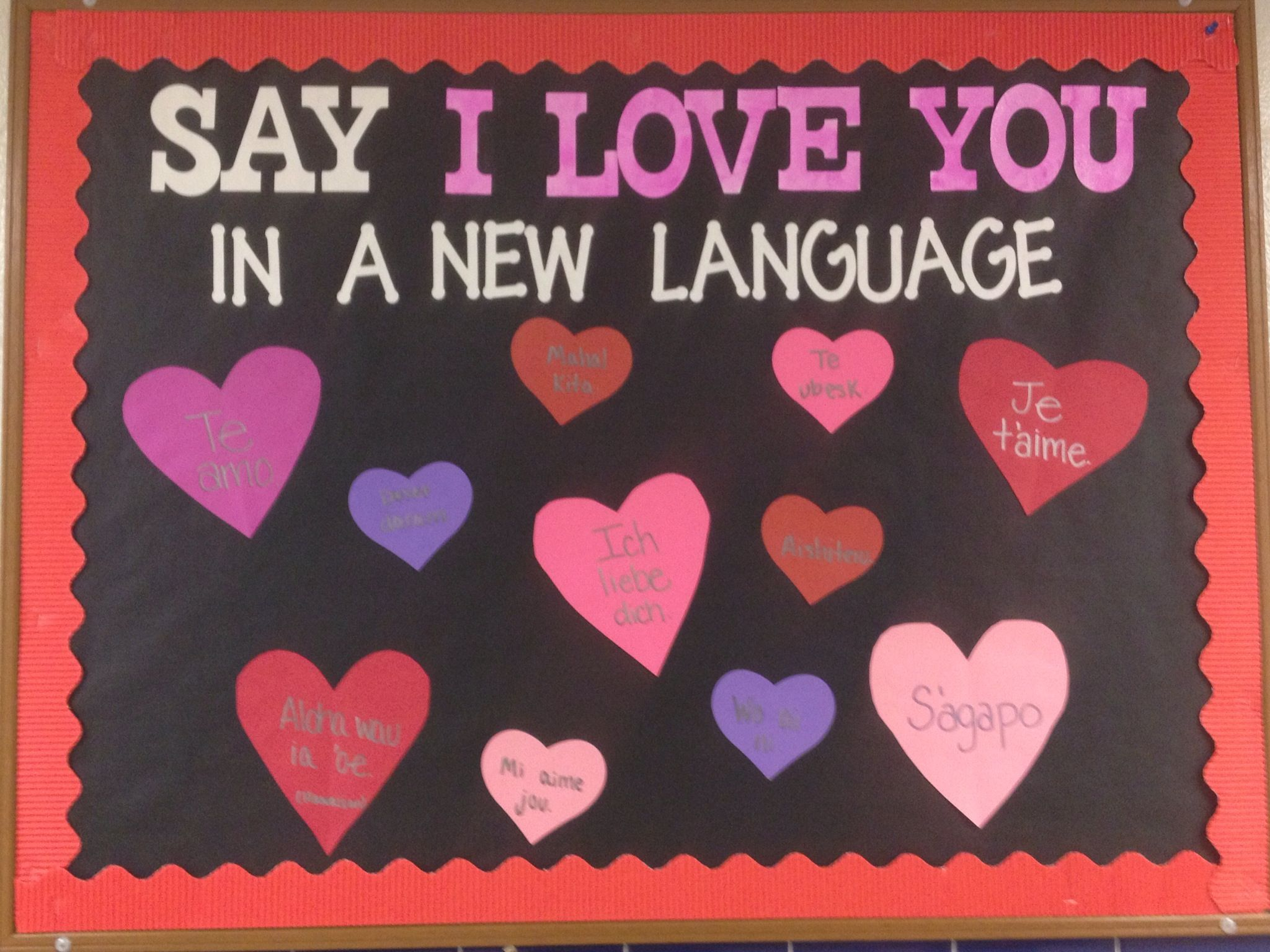 Modern Language Classroom Displays : Class quilt idea have students figure out how to say i