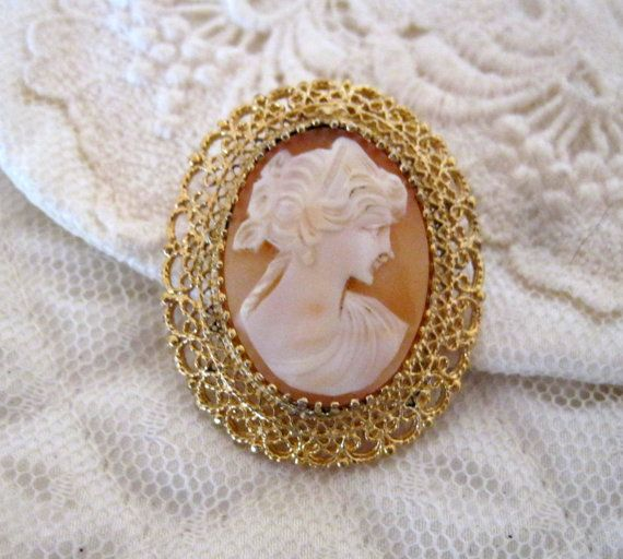Vintage sterling silver shell cameo pendant pin by sisters2vintage vintage sterling silver shell cameo pendant pin by sisters2vintage 7500 aloadofball Choice Image