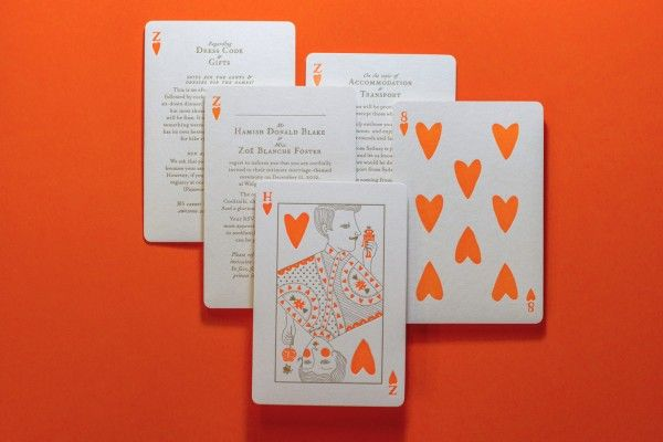 playing card invitation – Playing Card Invitation