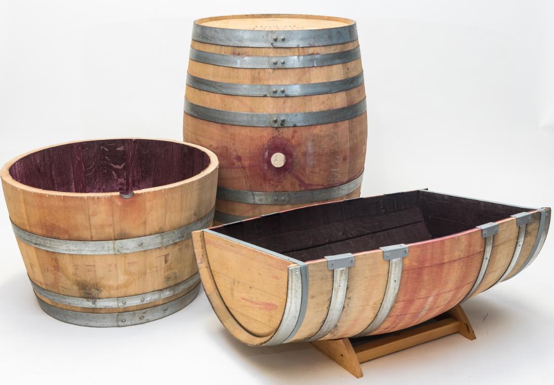 Three Ways To Do Real Wood S Wine Barrels Each Barrel Is Unique And Beautiful Oak Barrel Wine Barrel Barrel