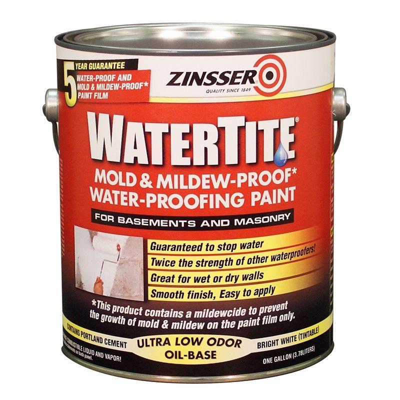 Zinsser 3 78l Watertite Waterproofing Paint Mold And Mildew Waterproof Paint Waterproofing Basement