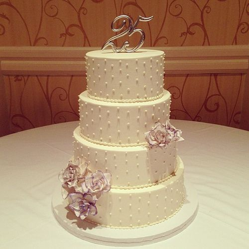 25th wedding anniversary cake #polkadotscupcakefactory