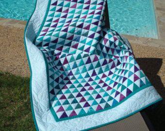 Handmade Patchwork quilt in beautiful jewel batik fabrics
