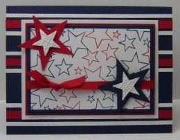 Fourth Of July Greeting Cards Handmade Ideas Military Cards Independence Day Card Star Cards