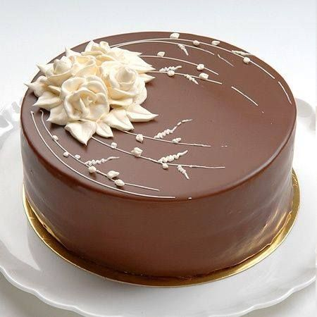 Maybe In White An Elegant G Chocolate Cake Decoration Chocolate