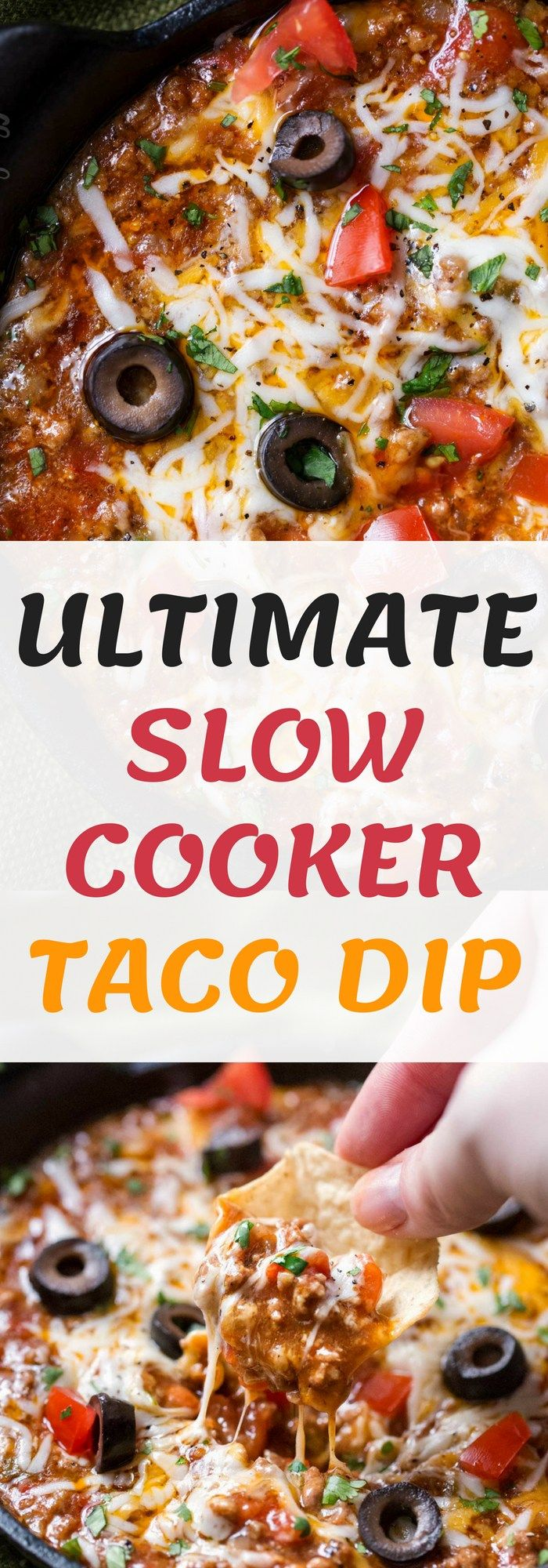 Ultimate Slow Cooker Taco Dip Net Feed Daily Slow Cooker Tacos Taco Dip Slow Cooker Dips