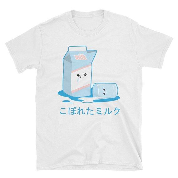 1990cf734d17 Kawaii Cute Milk Carton Japanese Vaporwave Aesthetic T-Shirt | Cute ...