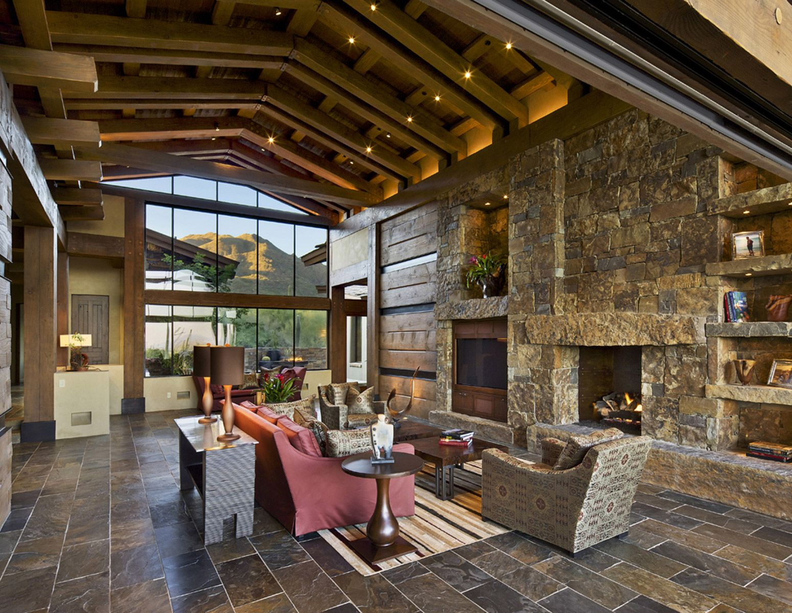 contemporary rustic modern furniture outdoor. Architecture, Elegant Yet Vintage Rustic Modern Homes Architecture Ideas : Amazing With Glass Windowed Wall And Fireplac. Contemporary Furniture Outdoor B