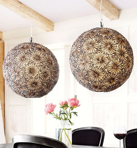Shell Pendant Light | Sliced Seashells Handcrafted To Resemble Flower  Clusters.