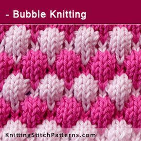 Bubble Knitting. Free Knitting Pattern includes written instructions and video t…